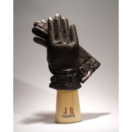 Gloves with cashmere lining and belt