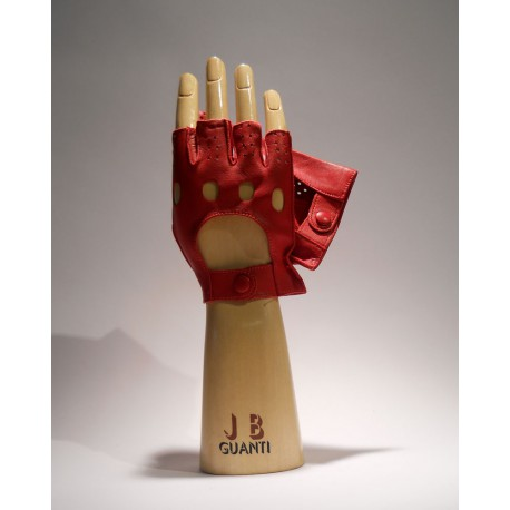 Driving mans Gloves half finger without lining