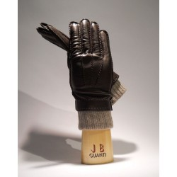 Gloves double cashmere and goat skin