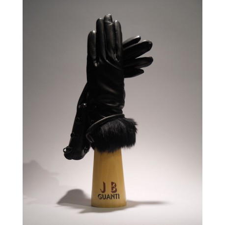 Gloves with lapin cashmere lining