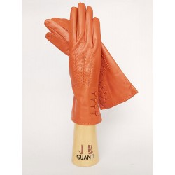 Gloves with 4 buttons 3 lines and silk lining