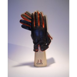 Cashmerelined leather gloves with 3 points